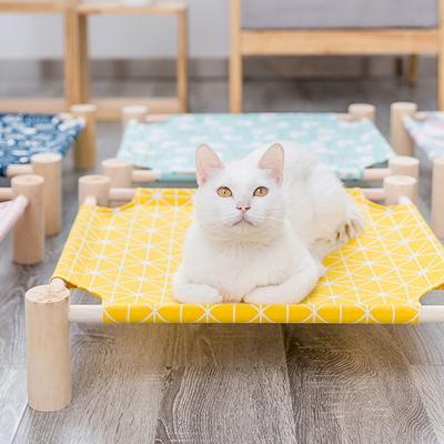 (봉봉펫닷컴) 고양이 사각 원목 해먹