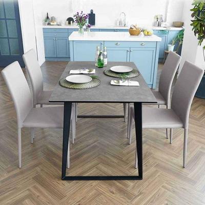 제르마노 4인용 세라믹 식탁 올리에 의자 4개 세트