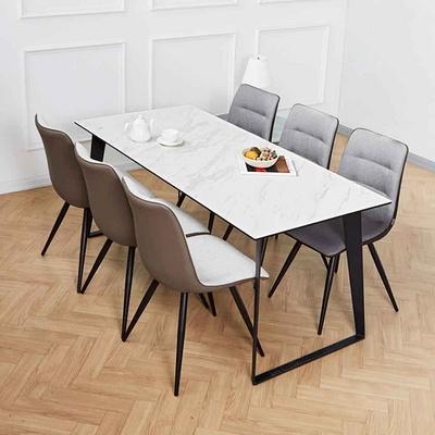 제르마노 6인세라믹식탁 뉴더블사이드 의자 세트