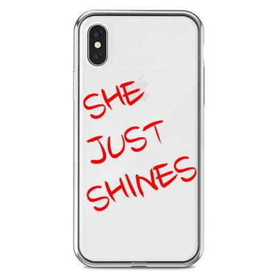 아이폰 X 8 7 6S SE 투명 커스텀 케이스 립스틱 글씨체