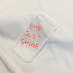 갤럭시 A8 A7 A5 투명 커스텀 케이스 립스틱 글씨체