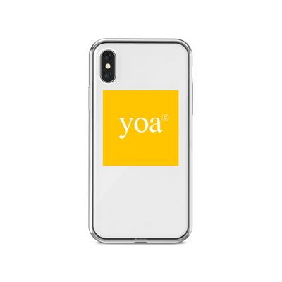 특이한 아이폰 투명 케이스 YELLOW