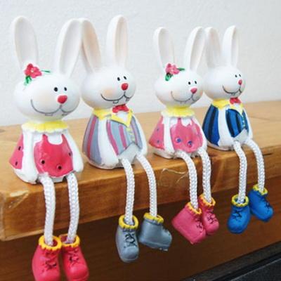 귀여운 앉은 토끼 4P세트 거실인테리어소품