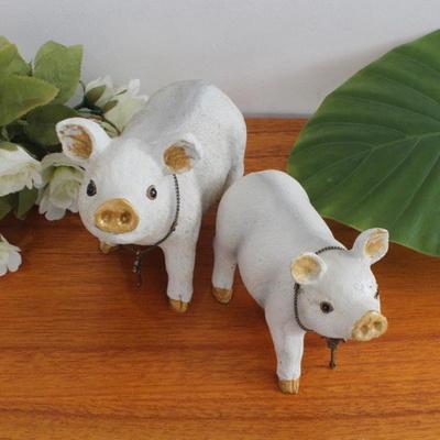 흰 돼지 세트 장식소품