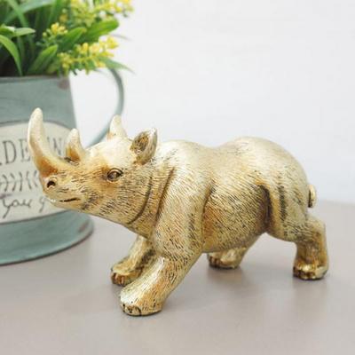 금색 코뿔소 홈데코소품