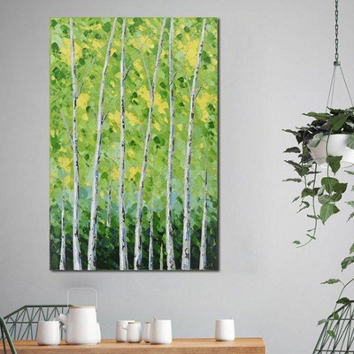 캔버스 풍경화 액자 자작나무 인테리어 그림
