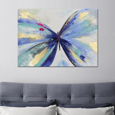 행운을 부르는 나비 유화 그림