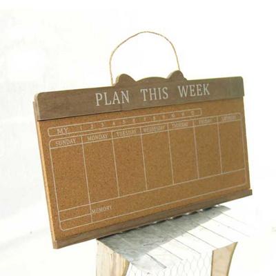 신혼집꾸미기 우드 주간계획표 디자인 소품