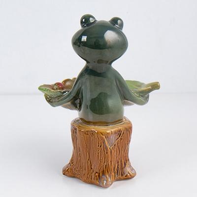 방꾸미기 서있는 개구리수반 카페인테리어 소품