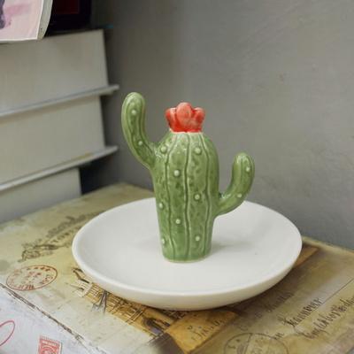 방꾸미기 꽃선인장 트레이 디자인 소품