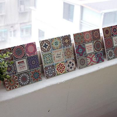 신혼선물 사각 패턴 냄비받침 카페인테리어 소품