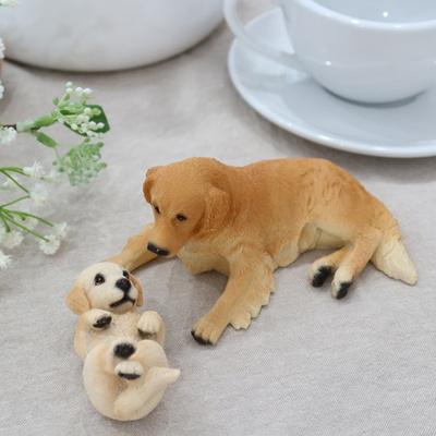 귀여운 골든리트리버 강아지세트 거실 소품