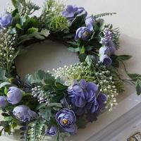 예쁜 꽃 로즈 리스3color 카페인테리어 소품