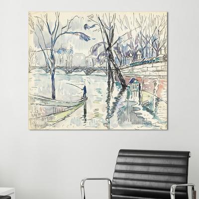 [트리빌리지] 벽장식 카페 인테리어 파리 예술의 다리 그림액자(60x50cm)