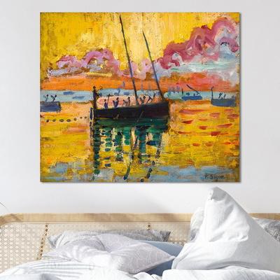 [트리빌리지] 거실 실내 인테리어 폴 시냑의 콩카르노 그림(60x50cm)