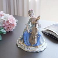 고급스러운 첼로 여인 디자인 소품