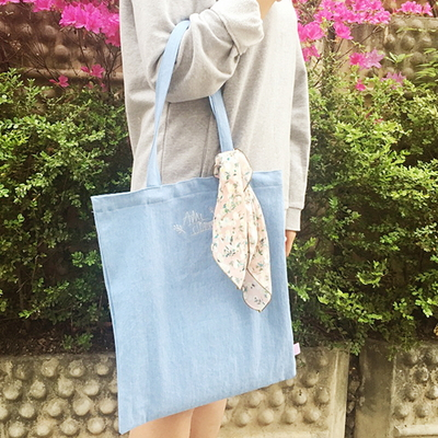 denim awesome eco bag (자수)