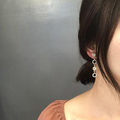 써클 드롭 티타늄 귀걸이