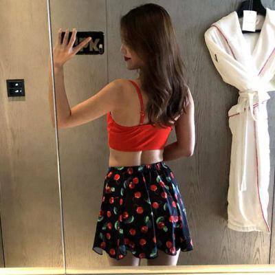 레드 튤립 3PCS 비키니세트 수영복 비치웨어 여자 바캉스