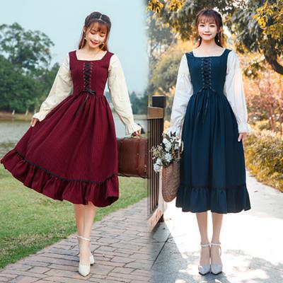 알프스소녀 하이디 코르셋원피스 레트로 빈티지 귀여운 코스프레 졸업사진컨셉 드레스