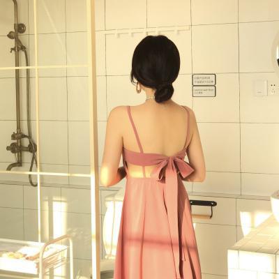 라라리빠 뒷태반전 리본 비치웨어 원피스 드레스 롱 등파임