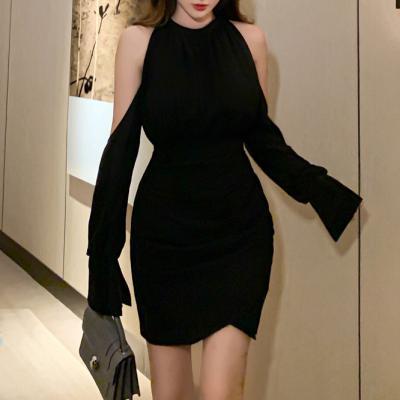 어깨 트임 블랙 드레스 섹시원피스 오프숄더 파티룩