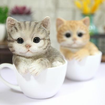 마블 머그컵 고양이 장식소품