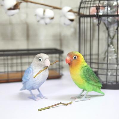 리얼 디테일 마블 앵무새 모형