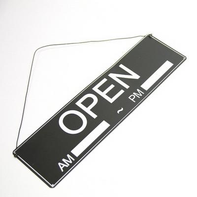 블랙 오픈-클로즈 도어 틴싸인보드