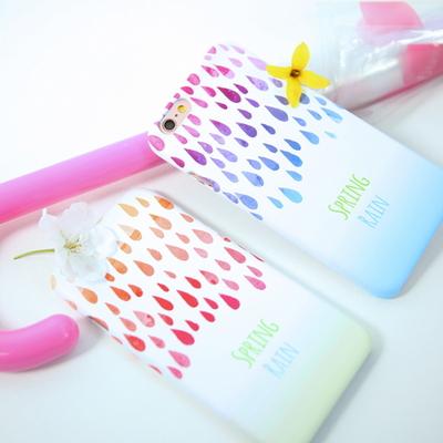 Spring Rain 봄비_블루 스마트폰 디자인 케이스