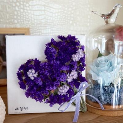 공간활용 가능한 안개 꽃다발장식 미니 캔버스액자
