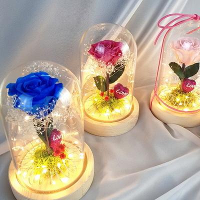 (LED 유리돔) 어린왕자 장미유리돔_무드등