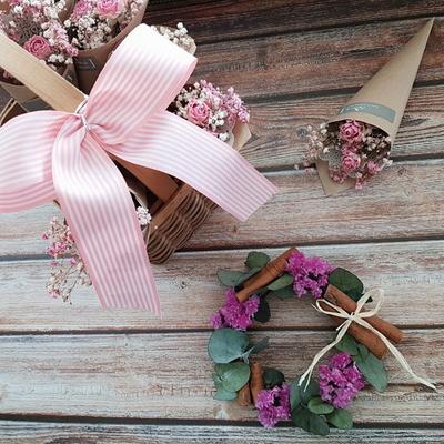 (미니리스)보라보라 스타치스미니리스-시나몬리스-신혼집들이선물