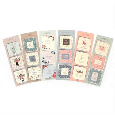 1000 로맨틱플라워 3단미니카드 (6세트)