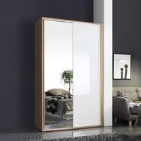 쥬리아 1200 CD 양문 슬라이딩 드레스룸(거울+화이트)