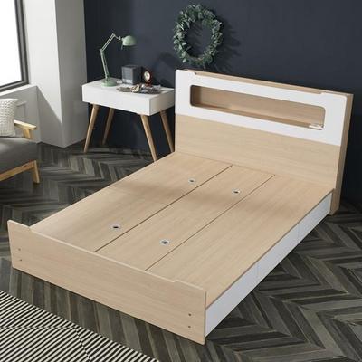 네이오 LED 3서랍 침대 퀸