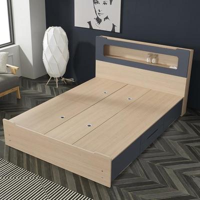 네이오 LED 4서랍 침대 퀸