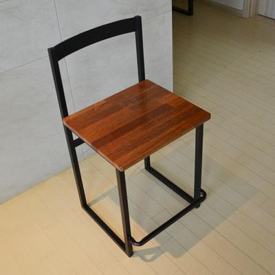 럼버스 멀바우원목 스틸 방석높은의자