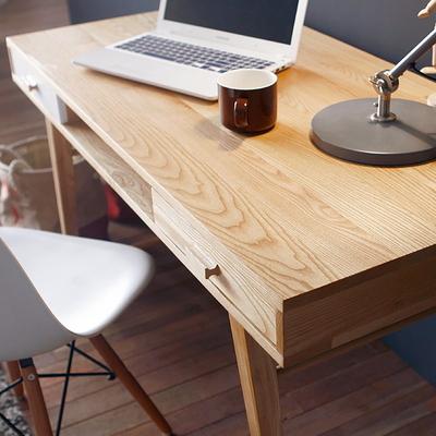 루나 책상+의자 세트 -고급에쉬원목