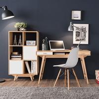 루나 3단6칸책장+책상+의자 세트