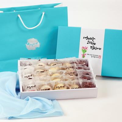시루아네 감사 2호 선물세트(60g씩25개1.5kg)+쇼핑백+보자기
