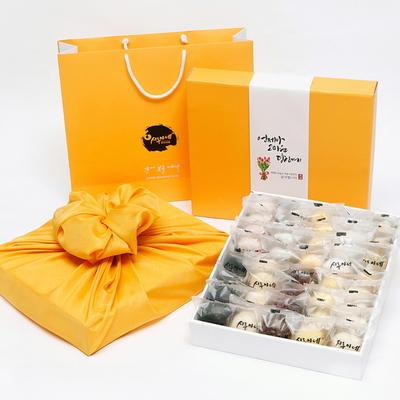 시루아네 감사 3호 선물세트(60g씩40개2.4kg)+쇼핑백+보자기