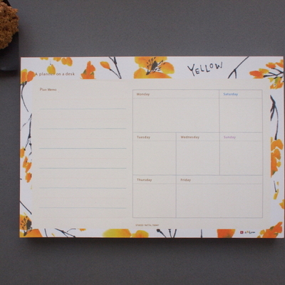 A Planner on a desk Schedule Pad - 유별나라 100매