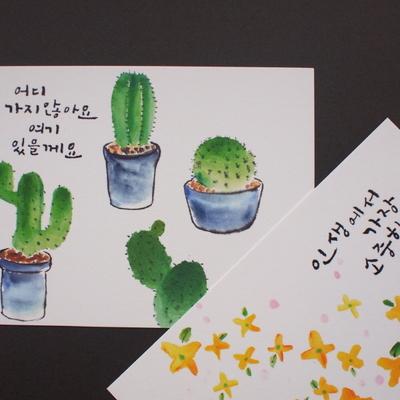 유별나라 포스트카드 6 designs