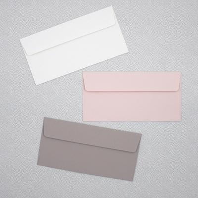 캘라그라피용 무지 컬러봉투 8장-투명 봉투 케이스