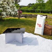돗자리밥상 피크닉 캠핑 보조 종이 테이블 D400