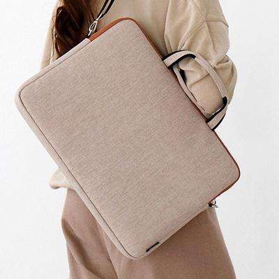 모노그 크로스 수납 17인치 방수 노트북 서류 가방
