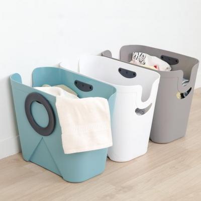이좋은 360도 회전손잡이 세탁 빨래바구니 색상3가지