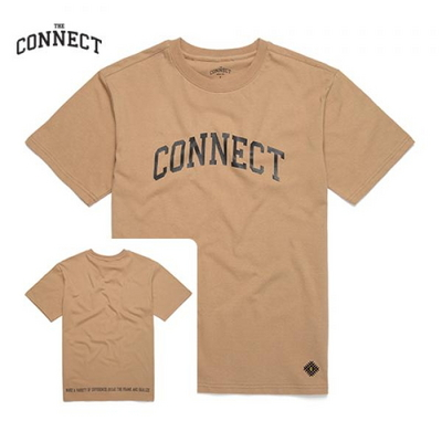 THE CONNECT Basic T-Shirt(BEIGE)