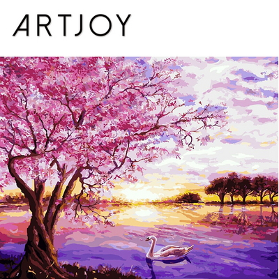 아트조이 DIY 명화그리기 벚꽃 호수 40x50cm
